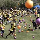 There was a whole lotta balls and a whole lotta dodgin' goin' on at the UC Irvine campus where students apparently have nothing better to do with their time than attempt to set a Guinness world record for largest dodgeball game ever held. God forbid they should crack a book!