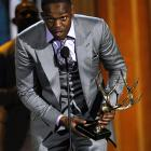 Jon Jones accepts the award for the most dangerous man of the year at the 2011 Spike's Guys Choice Award.