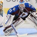 After a disappointing season in Toronto, the 2003 Conn Smythe-winner (as an Anaheim Duck) will try to revive his career in Colorado, where he received a two-year deal worth $2.5 million to help stabilize the young Avs' netminding situation as a reliable, veteran backup to Semyon Varlamov. Giguere, 34, has a career record of 231-195-67 with a 2.53 goals-against average, .913 save percentage and 34 shutouts.  His 231 wins rank ninth among active goaltenders.