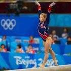 Johnson was saddled with silver medals in Beijing, getting second in the team, all-around and floor exercise before finally breaking through to win the balance beam. She took a break after the Olympics, winning  Dancing with the Stars  in 2009 but blowing out her left knee in a January 2010 ski accident. In recovery she decided to make another run at the Olympics. Her competitive comeback began this summer, but Johnson could not shake off enough rust to make October's world championship team. Improvement over the next year will be key for her chances to make the Olympic team.