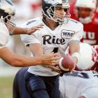 Bates was an early enrollee in 1995 and the only scholarship quarterback other than Manning in spring camp. Bates decided after the 1995 season to pursue baseball and transfer to Rice, where he was a two-sport athlete. Most recently, Rice was the Seahawks' offensive coordinator but was fired after his only season in 2010.   Career Tennessee stats (as Manning's backup): 7 games, 0 for 3.