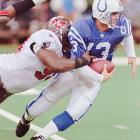 You could call Holcomb the default incumbent when Manning joined the Colts in 1998. He started one game among five appearances in 1997, recording one touchdown and eight interceptions and helping the Colts to the No. 1 draft pick. While other QBs Jim Harbaugh and Paul Justin departed after that 3-13 year, Holcomb stayed. He was the No. 1 in camp during Manning's six-day, eight-practice holdout. But Holcomb would never take another regular-season snap for Indy as Manning embarked on his Hall of Fame career.   Career Colts stats (as Manning's backup): 0 snaps.   Other Colts quarterbacks in the Holcomb era: Stoney Case, Pete Gonzalez, Jim Kubiak, Bill Musgrave, Doug Nussmeier, Gus Ornstein, Mike Quinn.