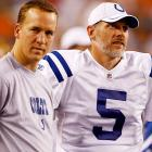 The Colts weren't satisfied with Curtis Painter as their lone option to replace Peyton Manning should his recovery from offseason neck surgery spill into the regular season. So, they signed Collins, 38, who appeared headed for retirement after a career that began with the expansion Panthers in 1995. Collins, who with every passing day looks more likely to start the Colts' opener at the Texans on Sunday,  is the latest in a long line of Plan Bs to Manning, who hasn't missed a start since high school and has made 208 straight in the regular season since being drafted No. 1 overall by the Colts in 1998. In all, Manning hasn't missed a regular-season start dating to his days at New Orleans Isidore Newman High School.