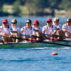 Team USA races in the women's eight event.