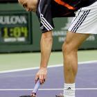 Tennis Players Smashing Rackets