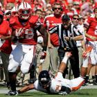 Despite the incredibly lopsided score, Oregon State actually managed to keep pace with Wisconsin in numerous key offensive areas: 17 first downs to 19, 47 percent third-down efficiency to 50 percent, 284 net yards to 397. The game turned on the Beavers' inability to run the football: OSU managed just 26 rushing yards, while Montee Ball (pictured) and the Badgers managed 208 and two scores as a team.