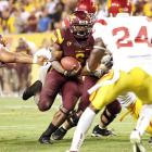 Cameron Marshall ran for 141 yards and three touchdowns, and Arizona State forced four turnovers to end an 11-game losing streak to Southern California. Arizona State hadn't beaten USC since 1999, losing five straight in Tempe.