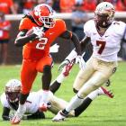 In the span of eight days, Florida State has gone from being the No. 5 team in the nation to a two-loss squad. Clemson beat FSU for the fifth straight time in Death Valley thanks to another huge day from freshman phenom Sammy Watkins (pictured), who caught eight passes for 141 yards and two scores.