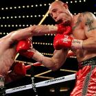 Anthony Pietantonio takes one on the chin from Sean Monaghan during a light heavyweight bout at Madison Square Garden.