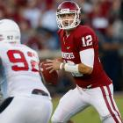 Last week:  23-of-33 for 425 yards, five TDs and one INT in 62-6 win over Ball State.   Season:  111-of-155 passing for 1,447 yards, 10 TDs and five INTs; eight rushes for three yards and two TDs.  Jones took full advantage as the Sooners took a break from Big 12 play. He doubled his season's touchdown pass total and posted his sixth 400-yard game and the second in as many weeks. Now, it was against a team that has now allowed 460 yards per game, but Jones seems to have found his rhythm as Oklahoma begins a six-game stretch that includes four ranked opponents, beginning this week against rival Texas, who ranks fifth in pass efficiency D and has given up just two TDs through the air to date.   Next up:  Saturday vs. No. 11 Texas