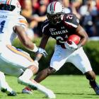 Last week:  17 rushes for 66 yards and one TD in 16-13 loss to Auburn.   Season:  124 rushes for 677 yards and nine TDs; 12 receptions for 139 yards and one TD.  For the second straight week, Lattimore was largely held in check as he had his lowest output of the season -- and this was against an Auburn defense that came in allowing over 225 yards per game on the ground. He still managed to score his 29th career TD with a 15-yard scamper, but you have to wonder how much longer he can remain a viable candidate if he can't get more help in the passing game as Stephen Garcia looked shaky again, completing 39 percent of his passes and he threw two picks.   Next up:  Saturday vs. Kentucky