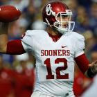 Last week:  35-of-47 passing for 505 yards, five TDs and two INTs in 58-17 win over No. 10 Kansas State.   Season (eight games):  236-of-355 passing for 3,094 yards, 26 TDs and nine INTs; 14 rushes for 22 yards and two TDs.  How does Jones stack up against his predecessor, Sam Bradford, in his Heisman-winning season of '08? Through eight games, Jones has 319 more yards and two more 400-yard games with four, and while Bradford had three more TDs and four fewer interceptions, Jones has 85 more attempts and a comparable completion percentage, 66.4 for Jones; 67.7 for Bradford. They both also suffered October losses and responded with monster performances the following week against Sunflower State schools. Bradford threw a Sooners' best 468 yards against Kansas, while Jones bested that with 505 against K-State.   Next up:  Saturday vs. Texas A&M