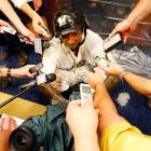 After delivering a National League Division Series-winning single against the Arizona Diamondbacks, the Brewers outfielder wearily explained to a flock of media vultures why he chose to set off an on-air F-bomb at Miller Park in Milwaukee.   CLICK HERE   for all the explosive action, but first, please ask the vicar to leave the room.
