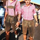 We understand that these two are Bavarian soccer players who are dressed by their mothers.