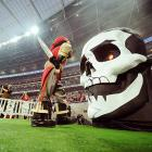 Meanwhile over in London, Lord Voldemort's Dark Mark was spotted in Wembley Stadium, the site of The Quidditch World Cup...