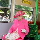 Royalty update: As we revealed last week  ( CLICK HERE   to see what we revealed), the queen has been traveling -- reportedly to the Rugby World Cup. Here she is on the train from London to New Zealand.
