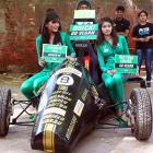 Just in time for the big race in New Delhi, Formula One cars that run on vegetable oil, which can be purchased at the new deli in your neighborhood, as these PeTA activists are only too happy to point out.