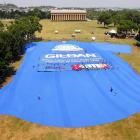 Gildan Activewear broke the record in Nashville with this 180.9-foot wide, 281.3-foot long T-shirt.