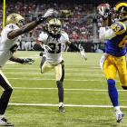 The St. Louis Rams were so inspired by the Cardinals World Series effort that they upset the Saints 31-21 to pick up their first win of the season. Brandon Lloyd scored a touchdown in the second quarter.