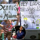 In 1994, Madonna started dating Spurs forward Dennis Rodman, which made the former Pistons star an easy target for fans. The relationship lasted just two months.