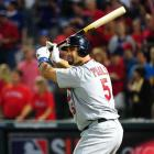 One night after hitting three home runs and driving in six runs, Cardinals first baseman Albert Pujols went 0-for-4 and left two runners on base in Game 4.
