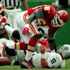 Simply one of the greatest outside linebackers in NFL history, Thomas had every move, all the skill and premiere athletic ability. His seven sacks against the Seahawks remains an NFL record, but perhaps more impressive: He also had six sacks in a game once, four sacks in a game twice and three sacks in a single game five times.