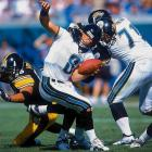 """The names roll off the tongue like a Who's Who of NFL greats: Jack Hamm, L.C. Greenwood, Joey Porter, """"Mean"""" Joe Greene, Greg Lloyd, James Harrison, Jack Lambert ... Jason Gildon? Yup. He was consistent, furious off the edge and one of the best if not most well-known Steelers defenders, accounting for 77 sacks."""