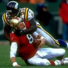 No one could possibly question John Randle's dominating ways, racking up 114 sacks over his career. Still, an asterisk could be justified, considering the Vikings unofficially credit Carl Eller with 130.5, Jim Marshall with 127 and Alan Page with 108 sacks. And those greats were teammates on the famed Purple People Eaters defensive line, before sacks became an official statistic.