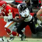 One of the best all-around linebackers in the game, Suggs passed Peter Boulware for the Ravens' all-time sacks lead, notching three sacks in the 2011 season opener against Pittsburgh to push his career total to 71½. Suggs' earned it with a unique combination of tenacity, power and finesse.