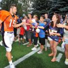 """""""Tebow is the most pressing Broncos mystery. He's entertaining. He's blessed with a natural bond with fans. He will sell tickets, boost TV ratings, inspire women across the country to swoon.""""   --David Ramsey, The Gazette"""