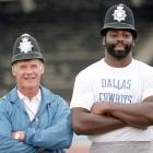 This Cowboys duo doesn't need the rest of the police uniform to be intimidating, Jones' 6-foot-9 frame seems to be enough.