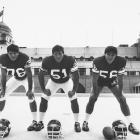 On Sunday, the Bears and Buccaneers will play at Wembley Stadium in England. Though NFL teams have been playing a regular season game in England for the past five years, the league has been visiting England since the mid '80s as part of the American Bowl series, which promoted football in other countries. In honor of this weekend's game, here are some classic photos of the NFL in England.  In this photo, members of the Minnesota Vikings pose outside of Wembley Stadium before a preseason game.