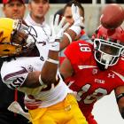 Utah's turnover problems continue. The Utes coughed the ball up five times against Arizona State, and quarterback Brock Osweiler capitalized, passing for 325 yards and three scores. The 5-1 Sun Devils face defending league champion Oregon next week.