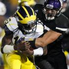 Denard Robinson threw for two touchdowns and ran for two more, helping Michigan come back from a 10-point halftime deficit to remain unbeaten. Robinson matched his season-high by throwing for 338 yards and ran for 113 as Michigan (6-0 overall, 2-0 in the Big Ten) scored on its first three possessions of the second half. Dan Persa threw for 315 yards for Northwestern (2-3, 0-2) which blew a double-digit lead for the second straight week.