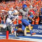This one was a bit too close for comfort, but Boise will take it. Air Force had its way with Boise's defense, racking up 416 yards, but the Broncos have some offensive weapons of their own. Kellen Moore  completed 23-of-29 passes for 279 yards and three touchdowns and tied Colt McCoy as the winningest quarterback in NCAA history by recording his 45th career win.