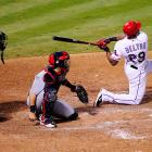 Adrian Beltre tied the game at 2-2 with a home run off Carpenter while getting down on one knee, as he is wont to do.