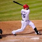 Batting eighth, Mike Napoli continued to do what he's been doing since the All-Star break. Napoli's eighth-inning double broke the tie and gave the Rangers a lead they didn't relinquish.