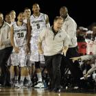 Michigan State head coach Tom Izzo stands up and directs orders during the second half Friday.