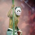 Welcome to yet another installment of  Did You See That? , America's most exciting photo gallery. South America's, too. To prove it, we present Jason Vorhees of  Friday the 13th  fame stalking Ecuador's Liga Deportiva Universitaria as it battles Paraguay's Liberatad in a Copa Sudamericana match.