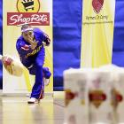 With Thanksgiving on its way, the Harlem Globetrotter worked up an appetite at the Third Annual ShopRite Partners In Caring Turkey Bowling Invitational in yummy Newark, N.J.
