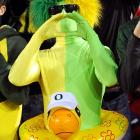 What was inside the Trojan Duck? Warriors like this who led Oregon's ruthless 53-30 rout of the clearly surprised and overwhelmed Stanford Cardinal.