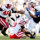 Brandon Beachum and the Penn State ground game totaled 166 rushing yards against Nebraska.