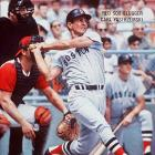 The Hall of Famer left fielder played his entire 23-year career with the Boston Red Sox. The 18-time All-Star won seven Gold Gloves and the 1967 AL MVP award.