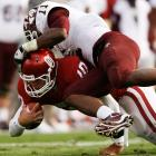 Oklahoma got a boost from backup quarterback Blake Bell (pictured), who did his best Tim Tebow impression by rushing for two touchdowns. But the Sooners also suffered a crushing loss: All-everything receiver Ryan Broyles tore his ACL, prematurely ending his Oklahoma career in cruel fashion.