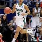 As a Notre Dame sophomore last season, the 5-9 point guard averaged 19.3 points during the NCAA tournament (up from 14.2 during the regular season) and scored 28 points -- outperforming player of the year Maya Moore -- in a semifinal upset of Connecticut. Oh, and you may have heard about the Twitter shout-outs from Lil Wayne. (The charismatic Diggins has more than 130,000 followers herself.) Diggins and the Irish lost the title game to Texas A&M, but they're back this season with another highly ranked team with championship aspirations.