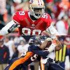 The Broncos' Miller (third pick in 2011 draft) and the 49ers' Smith (seventh pick) have waged a spirited race for the Defensive Rookie of the Year award (Patrick Peterson, Ryan Kerrigan and J.J. Watt have been in the mix, too). Entering Week 17, Miller had 11.5 sacks while emerging as an every-down difference maker; pass-rush specialist Smith had 14 sacks, a half sack behind Jevon Kearse's rookie record.