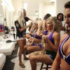 And now, a behind-the-scenes look at the kind of grim, gritty, gearing-up preparation that goes on in NFL locker rooms across the land on game days.