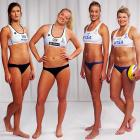 "Hard to believe the reports that these ladies have ""failed to catch advertisers' eyes"" and secure major sponsorship, even though half a million ducats have already been sold for the beach volleyball events at next summer's London Olympics."