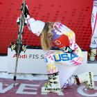 "The Siren of the Slopes paid homage to America's Action Hero by ""Tebowing"" after her triumph in the women's World Cup super-G competition in Beaver Creek, Colo."