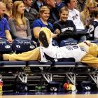 Cosmo was overcome by the exciting college basketball action raging on the court as Brigham Young (the university, not the religious leader) dispatched Weber State, 94-66, at the Marriott Center in Provo, Utah.
